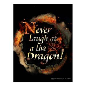 SMAUG™ - Never Laugh Logo Graphic Postcard