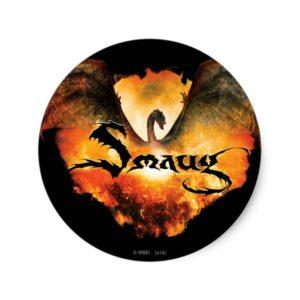 SMAUG™ Over Laketown Classic Round Sticker