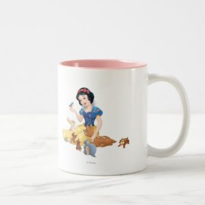 Snow White and the Forest Animals Two-Tone Coffee Mug