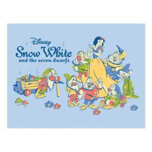 Snow White and the Seven Dwarfs taking a Break Postcard