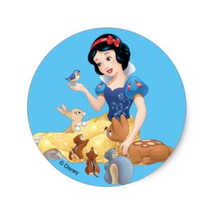 Snow White | Make Time For Buddies Classic Round Sticker