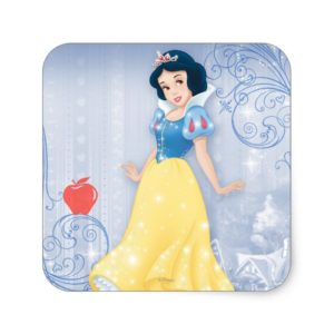 Snow White Princess Square Sticker