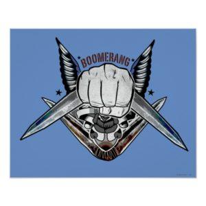 Suicide Squad   Boomerang Fist Tattoo Art Poster