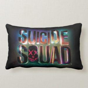 Suicide Squad   Colorful Glow Logo Lumbar Pillow