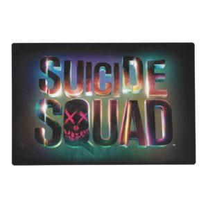 Suicide Squad   Colorful Glow Logo Placemat