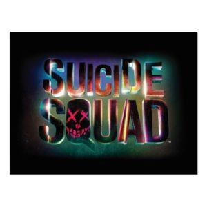 Suicide Squad   Colorful Glow Logo Postcard