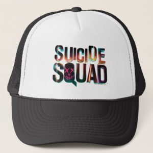 Suicide Squad   Colorful Glow Logo Trucker Hat