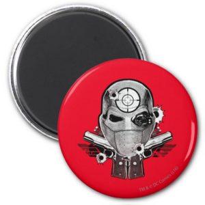 Suicide Squad | Deadshot Mask & Guns Tattoo Art Magnet