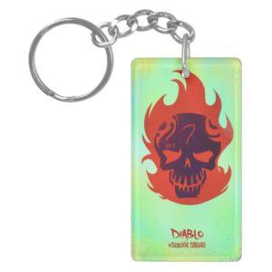 Suicide Squad   Diablo Head Icon Keychain