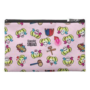 Suicide Squad   Harley Quinn Emoji Pattern Travel Accessory Bag