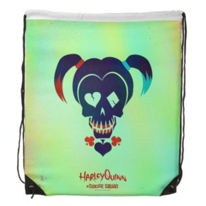Suicide Squad   Harley Quinn Head Icon Drawstring Backpack