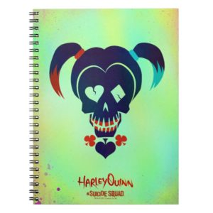 Suicide Squad   Harley Quinn Head Icon Notebook