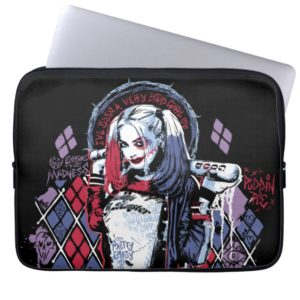 Suicide Squad   Harley Quinn Inked Graffiti Computer Sleeve