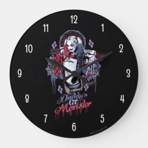 Suicide Squad | Harley Quinn Inked Graffiti Large Clock