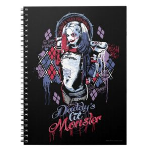 Suicide Squad   Harley Quinn Inked Graffiti Notebook