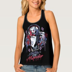 Suicide Squad   Harley Quinn Inked Graffiti Tank Top