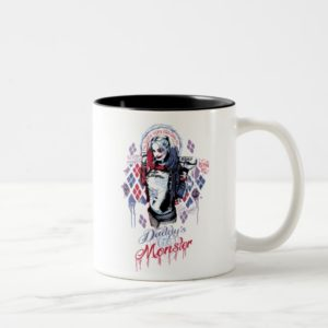 Suicide Squad | Harley Quinn Inked Graffiti Two-Tone Coffee Mug