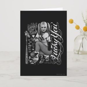 Suicide Squad | Harley Quinn Typography Photo Card