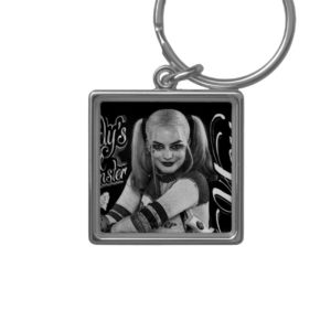 Suicide Squad | Harley Quinn Typography Photo Keychain