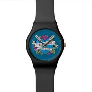 Suicide Squad   Harley Quinn's Tattoo Parlor Heart Wristwatch