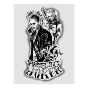 Suicide Squad | Joker & Harley Airbrush Tattoo Postcard