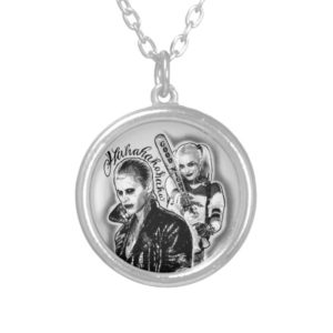 Suicide Squad | Joker & Harley Airbrush Tattoo Silver Plated Necklace