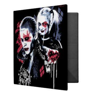 Suicide Squad | Joker & Harley Painted Graffiti Binder