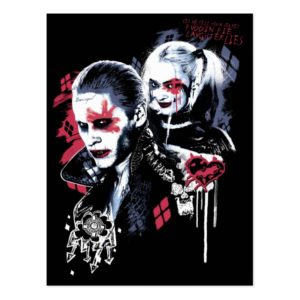 Suicide Squad | Joker & Harley Painted Graffiti Postcard
