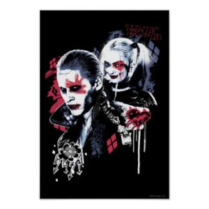 Suicide Squad | Joker & Harley Painted Graffiti Poster