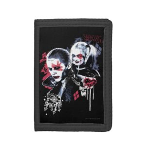 Suicide Squad   Joker & Harley Painted Graffiti Trifold Wallet