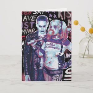 Suicide Squad | Joker & Harley Typography Photo Card