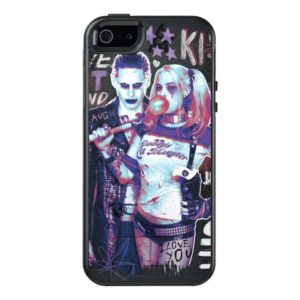Suicide Squad | Joker & Harley Typography Photo OtterBox iPhone Case