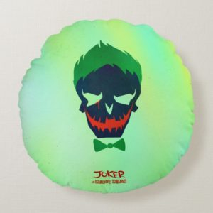 Suicide Squad | Joker Head Icon Round Pillow