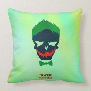 Suicide Squad | Joker Head Icon Throw Pillow
