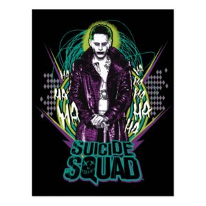 Suicide Squad | Joker Retro Rock Graphic Postcard