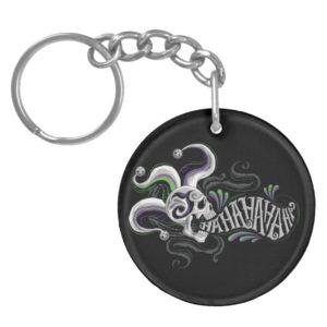 Suicide Squad   Joker Skull - Haha Keychain