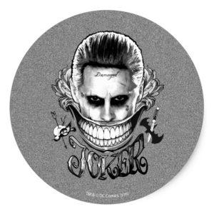Suicide Squad | Joker Smile Classic Round Sticker