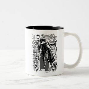 Suicide Squad | Joker Typography Photo Two-Tone Coffee Mug
