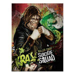 Suicide Squad   Killer Croc Character Graffiti Postcard