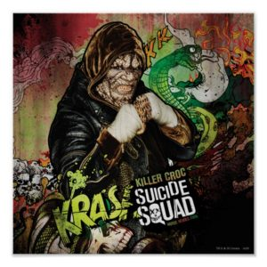 Suicide Squad | Killer Croc Character Graffiti Poster