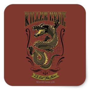 Suicide Squad | Killer Croc Tattoo Square Sticker
