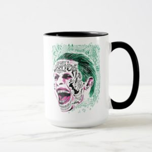 Suicide Squad | Laughing Joker Head Sketch Mug
