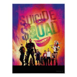 Suicide Squad | Orange Joker & Squad Movie Poster
