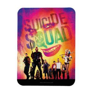 Suicide Squad   Orange Joker & Squad Movie Poster Magnet