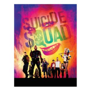 Suicide Squad | Orange Joker & Squad Movie Poster Postcard