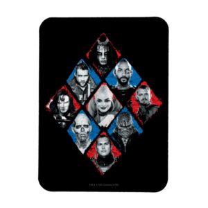 Suicide Squad   Task Force X Checkered Diamond Magnet