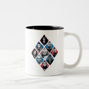 Suicide Squad | Task Force X Checkered Diamond Two-Tone Coffee Mug