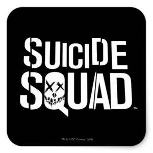Suicide Squad | White Logo Square Sticker