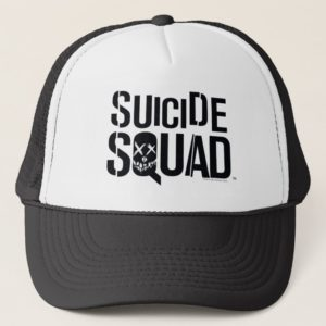 Suicide Squad   White Logo Trucker Hat