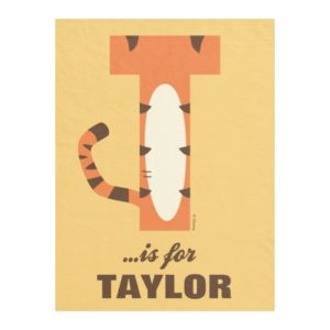 T is for Tigger | Add Your Name Fleece Blanket